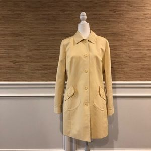 LOFT Spring Trench Rain Coat Yellow Jacket | Large